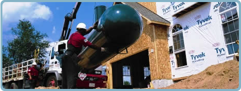 residential propane tank installation